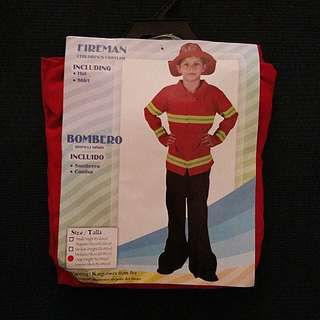 Fireman Costume for boys (ages 9-12)