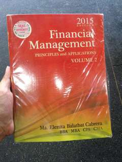 Financial Management Principles and Applications by Cabrera (2 volumes)