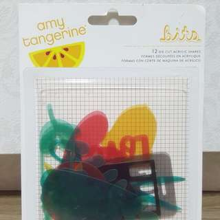 Amy Tangerine 'Stitched' Die Cut Acrylic Shapes