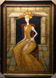 Oil painting 105 cm x 75 cm (with wooden frame)
