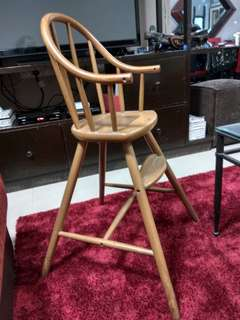 Wooden High Chair for Toddler