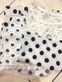 Polkadot set (blouse & pants)