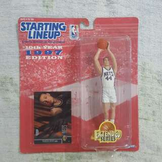 """Legit Brand New Sealed NBA Kenner Starting Lineup 6"""" Keith Van Horn New Jersey Nets Toy Figure"""