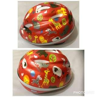 兒童 安全帽 腳踏車帽 動物世界 動物園 橘色 可調整帽圍 可拆 可洗 安全標章 日本品牌 TETE 德島双輪株式會社