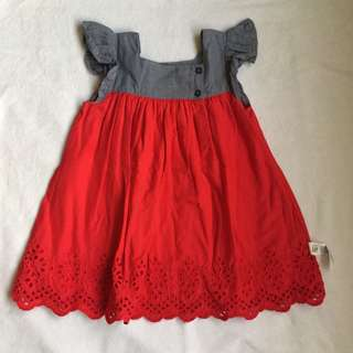 Gap eyelet flutter dress 12/18mos