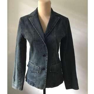 Preloved Ladies Denim Blazer Jacket