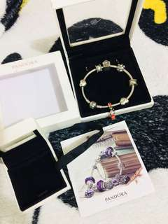 Authentic Authentic Pandora bracelet with box and paper bought this in Cathay pacific airlines for 24k plus