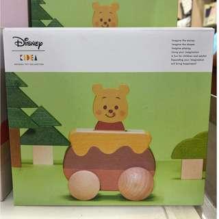 JPN Exclusive: Pooh and Honey Jar - Disney Kidea Wooden Toys