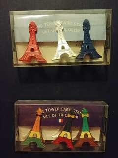 巴黎鐵塔夾 可夾相, 即影即有或名片 一套3個裝