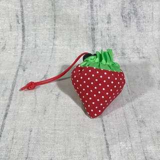 🚚 草莓折疊環保購物袋