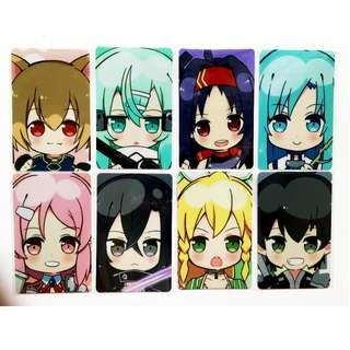 Sword Art Online Collectible card sticker - Anime