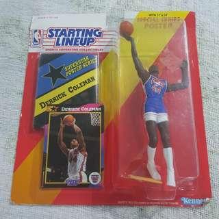 "Legit Brand New Sealed NBA Kenner Starting Lineup 6"" Derrick Coleman New Jersey Nets Toy Figure"