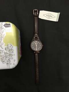 Fossil Watch ES3200 Brown Jam Tangan Original
