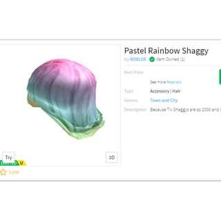 Roblox Pastel Rainbow Shaggy