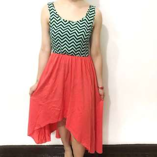 Tomato good as bnew high low summer dress fits xs-s