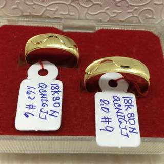 18k Saudi Gold Couple Ring ❤️