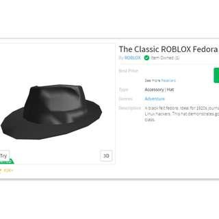 Roblox Classic Fedora