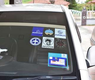Car Stickers Airbus & Boeing
