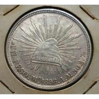 Libertad 1898 AM UN Peso Silver Coin