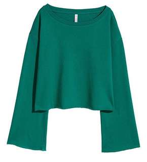Divided by h&m cropped flare sweatshirt
