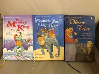 USBORNE Young Reading : The Monkey King ; Around The World in 80 days ; Oliver Twist (total of 3)