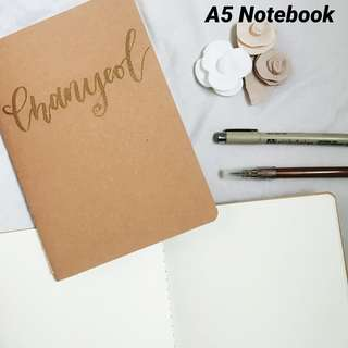 A5 Notebook with calligraphy name