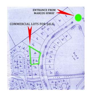 Two Commercial Lots for Sale A FEW STEPS AWAY FROM MARCOS HI-WAY at Blue Mountains, Antipolo.
