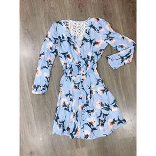 Blue floral long sleeve