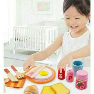 💜Onshine Wooden Child's Breakfast Playset