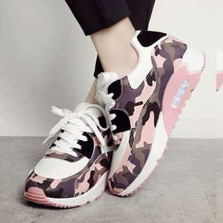 Camo Print Sneakers with Air-Max Inspired Soles