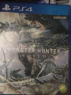 Ps4 Game 魔物獵人world/monster hunter world