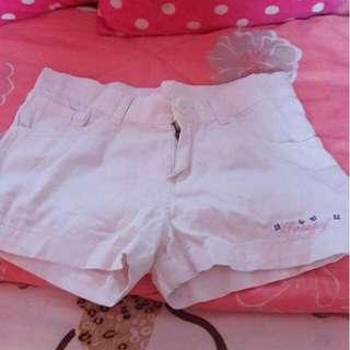 Snoopy White Shorts