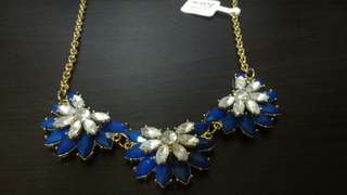 Icing Blue and White Flower Necklace