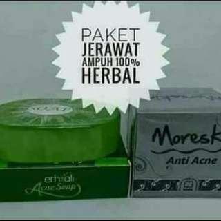 Moreskin anti acne dan Ershali acne