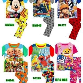 Kids Pyjamas - Long/Short Sleeves