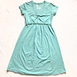 MEV Turquoise Maternity Dress