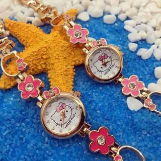 Hello kitty flower watch