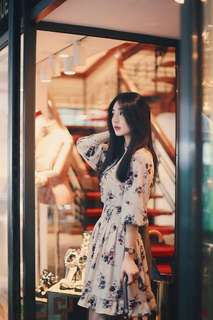 korean chiffon floral dress