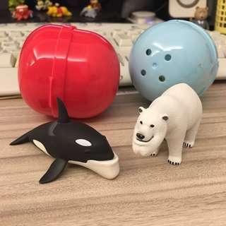 只換不賣 扭蛋厚道動物(北極熊已換出)