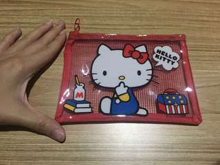 Hello Kitty Plastic Pouch