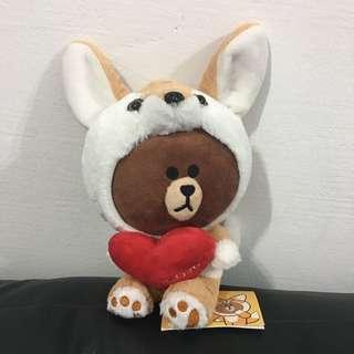 LINE Friends Fox Brown Plush Toy