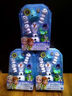 Tripack Promotion!!! 3 x Hasbro Frozen Fever Olaf Toy Set