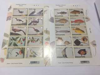 Singapore 2002 William Farquhar Birds and Fishes self adhesive mnh
