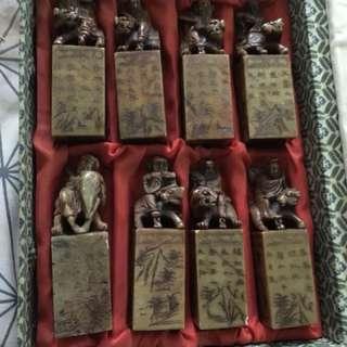 🚚 最優惠壽山石印含收藏盒