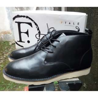 SEPATU BOOTS KULIT KEREN - By Ftale Footwear