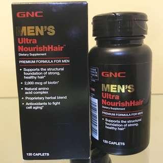 💥清貨 $350/2樽💥🌈男士頭髮🌈男士配方/特強滋養頭髮GNC MEN'S Ultra NourishHair (120粒) 2個月量