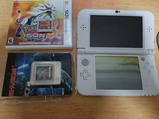 Nintendo 3DS XL 'New' with sky3ds+ and pokemon sun