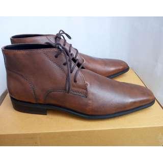 SEPATU BOOTS KULIT ASLI KEREN Genuine Leather Patina Cuoio