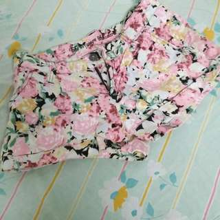 Floral Shorts made from Japan
