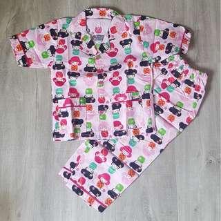 Brand New Handmade Premium Girl Pyjamas - Japanese Doll